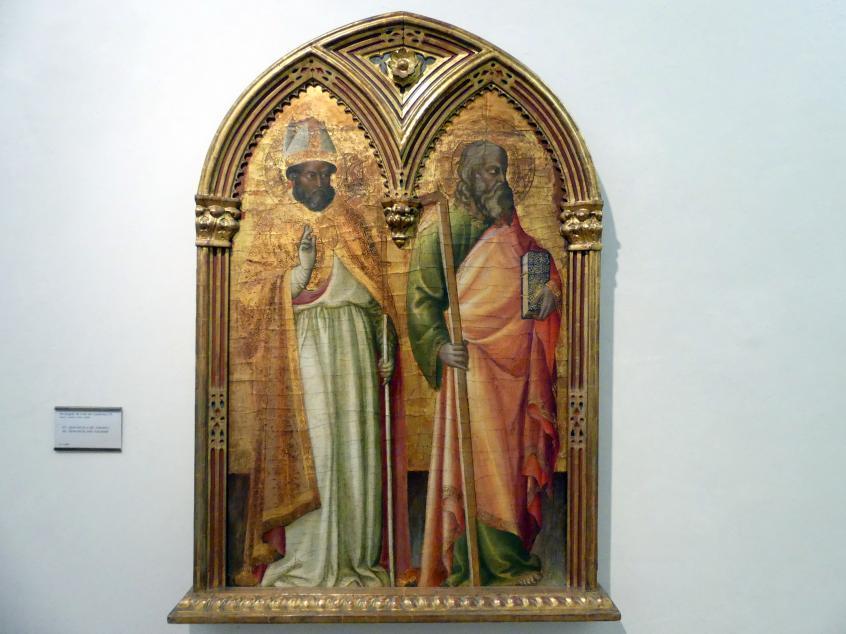 Arcangelo di Cola: Hll. Zenobius von Florenz und Apostel Andreas, Undatiert