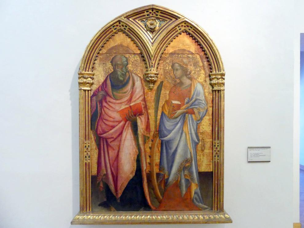 Arcangelo di Cola: Hll. Johannes Evangelist und Katharina von Alexandrien, Undatiert