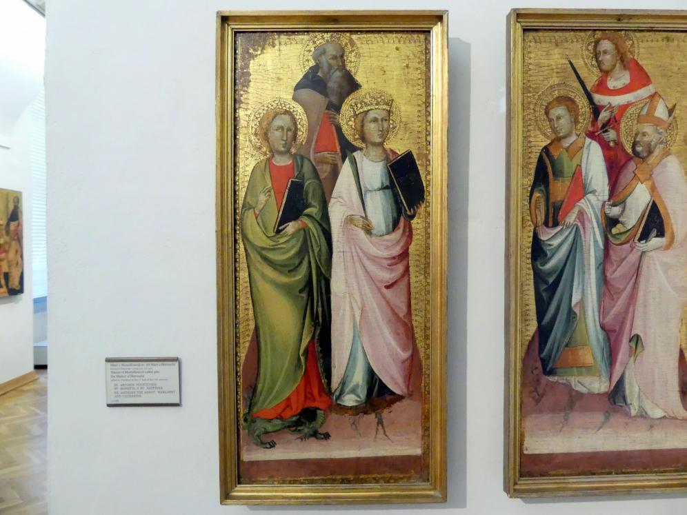 Meister von Montefoscoli: Hll. Antonius der Einsiedler, Margareta von Antiochia und Katharina von Alexandrien, Undatiert