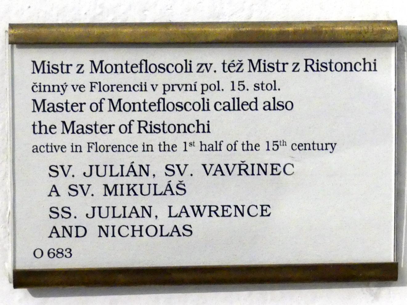 Meister von Montefoscoli: Hll. Julian, Laurentius und Nikolaus, Undatiert, Bild 2/2