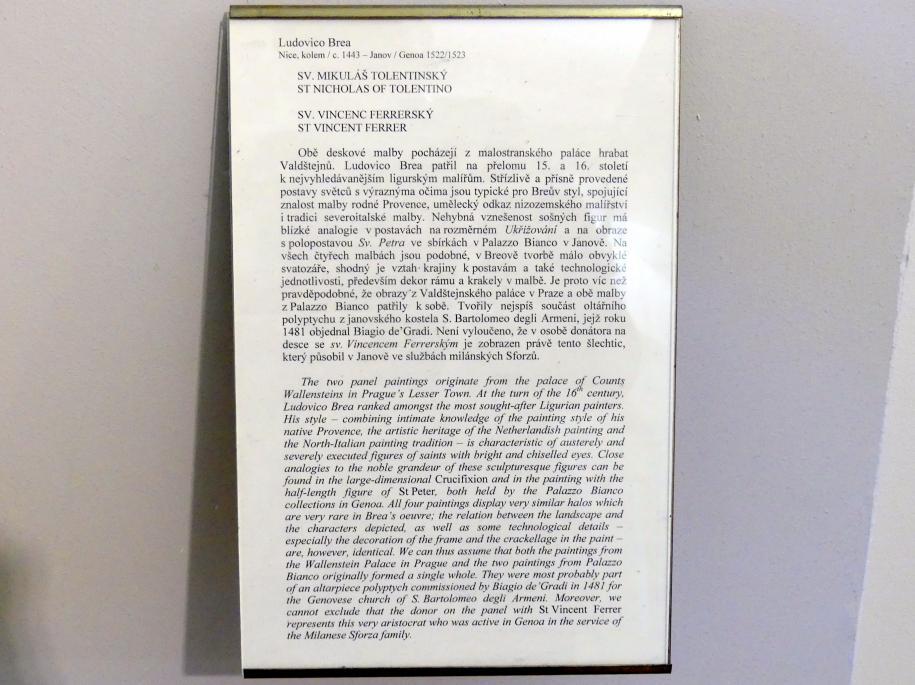 Ludovico Brea: Hl. Nikolaus von Tolentino, Undatiert