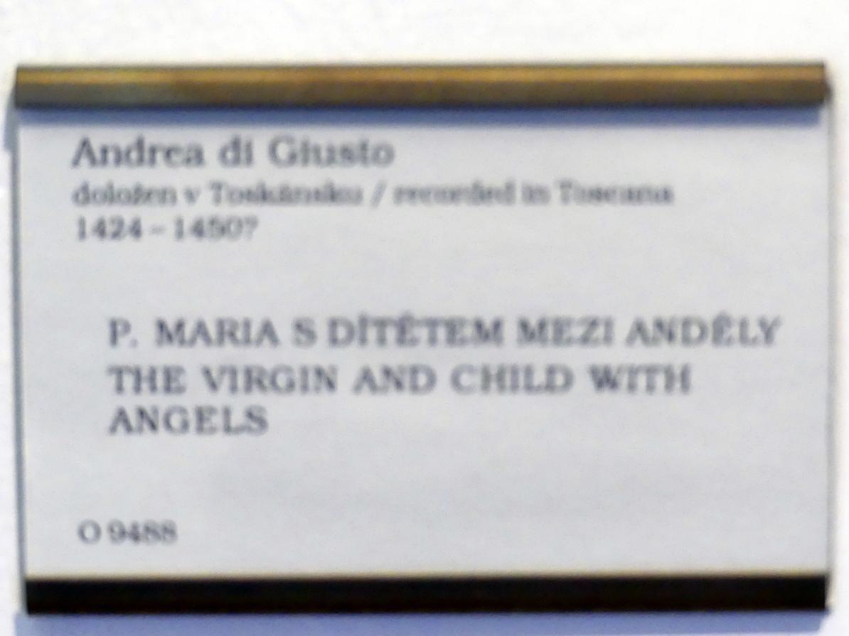 Andrea di Giusto: Maria mit Kind und Engeln, Undatiert, Bild 2/2