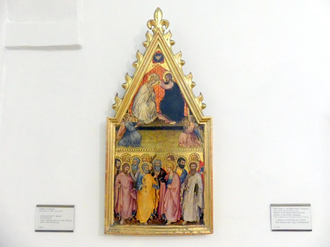 Taddeo di Bartolo: Krönung Mariens mit den zwölf Aposteln, Undatiert