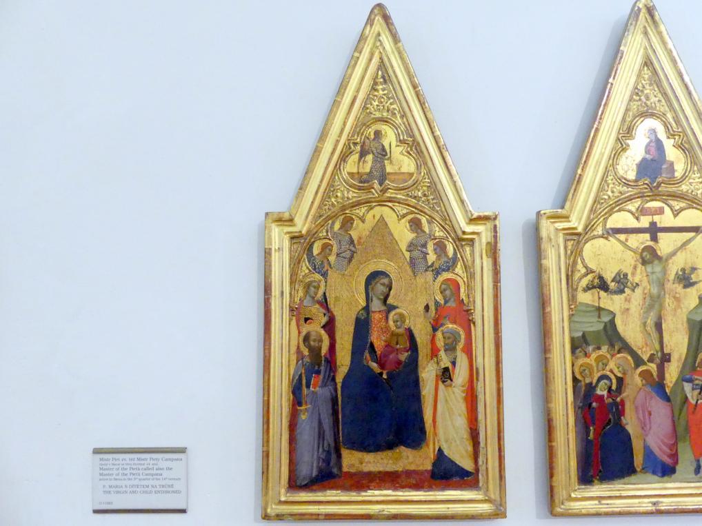 Meister der Pietà Campana: Thronende Maria mit dem Kind, Undatiert