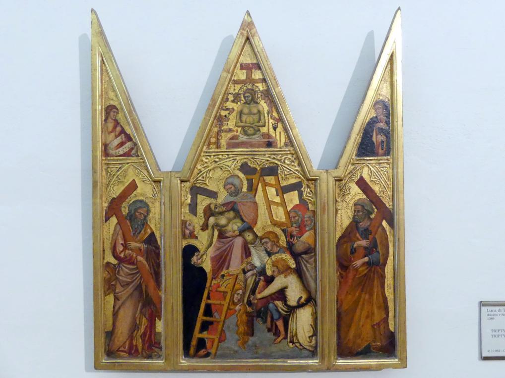 Luca di Tommè: Triptychon der Kreuzabnahme Christi, Undatiert