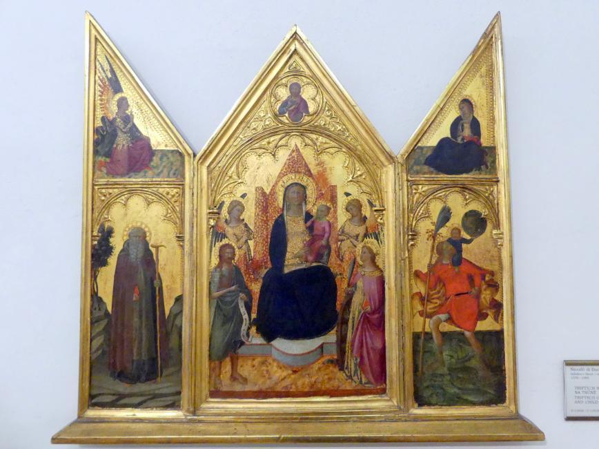 Niccolò di Buonaccorso: Triptychon mit der Thronenden Madonna mit Kind, Undatiert
