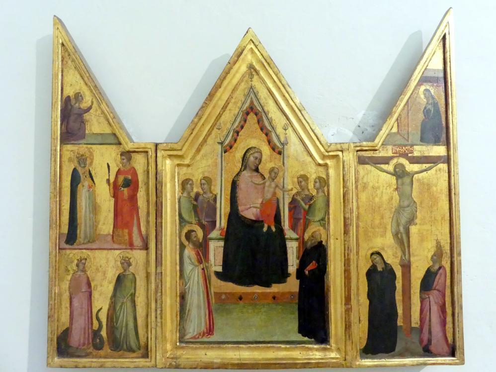 Bernardo Daddi: Triptychon mit der Verlobung der Hl. Katharina und den hll. Bartholomäus und Benedikt, Undatiert