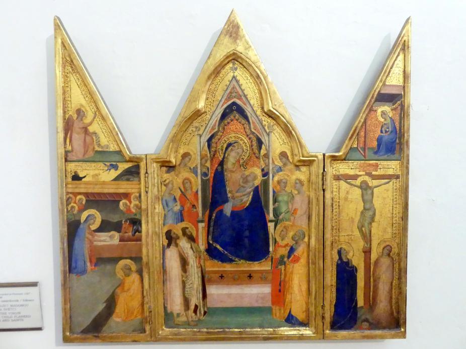 Bernardo Daddi: Triptychon mit der stillenden Gottesmutter, Engeln und Heiligen, Undatiert