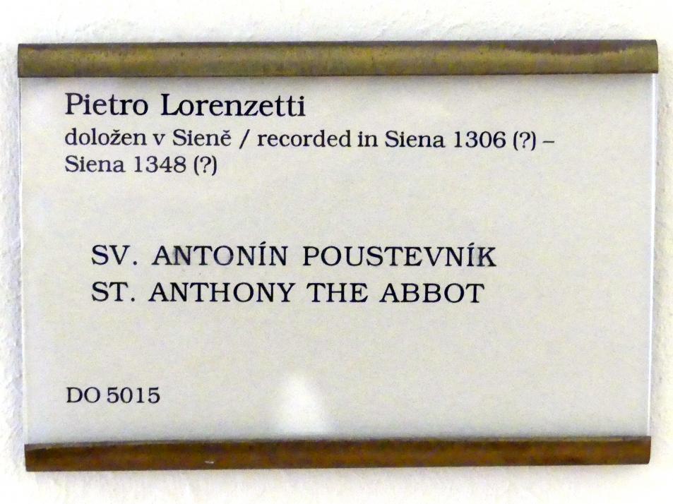 Pietro Lorenzetti: Hl. Antonius der Einsiedler, Undatiert, Bild 2/2