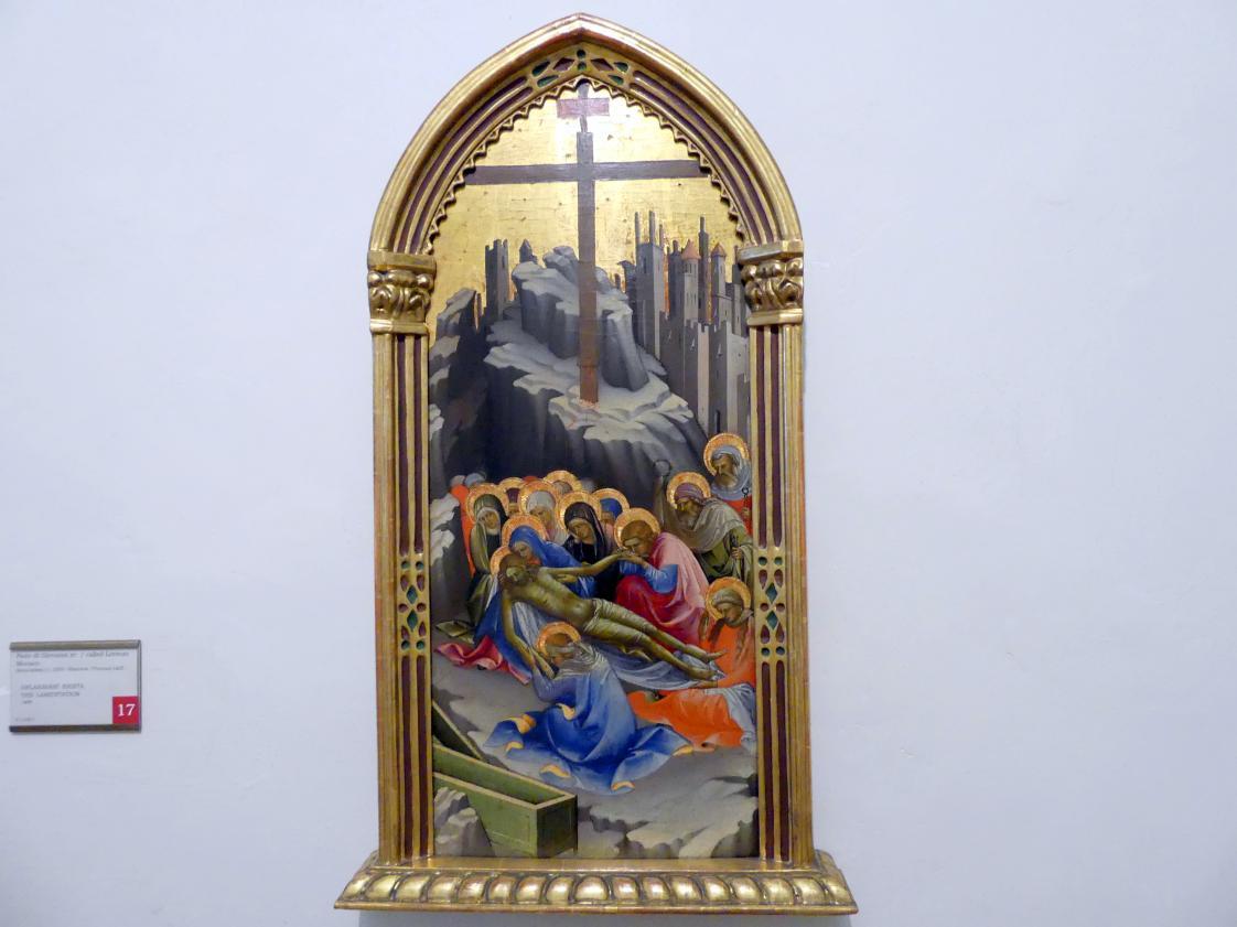 Lorenzo Monaco: Beweinung Christi, 1408