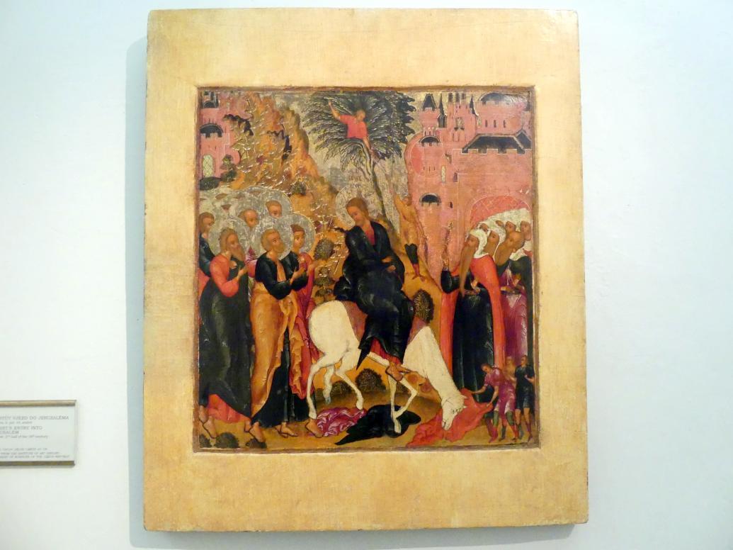 Christi Einzug in Jerusalem, 2. Hälfte 16. Jhd.