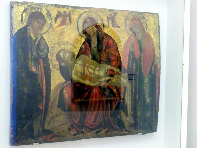 Pietá mit den hll. Johannes der Theologe und Maria Magdalena, 2. Hälfte 15. Jhd.