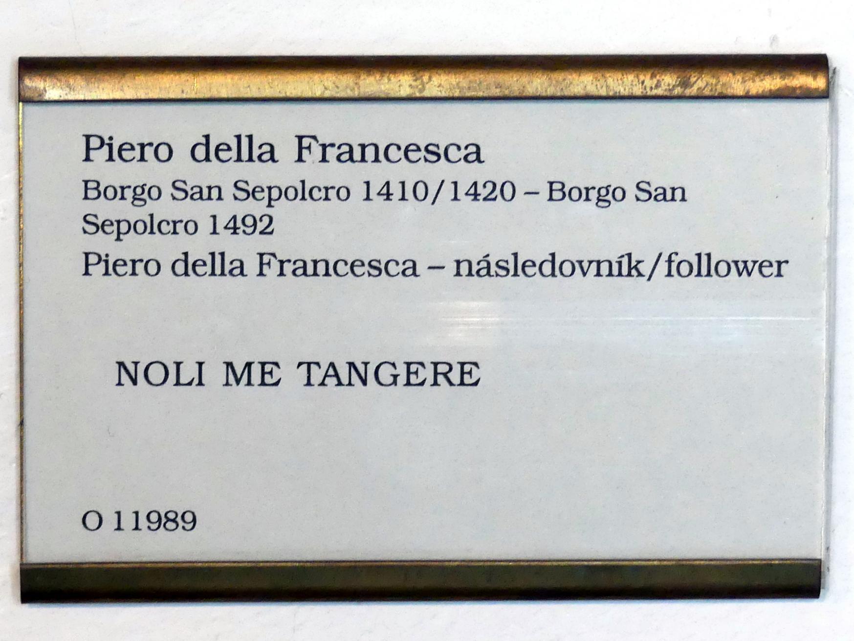 Piero della Francesca (Nachfolger): Noli me tangere, Undatiert, Bild 2/2