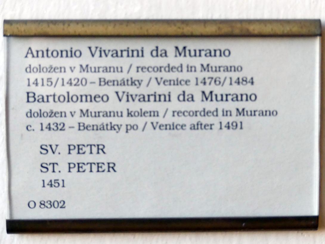 Antonio Vivarini (Antonio da Murano): Hl. Petrus, 1451, Bild 2/2