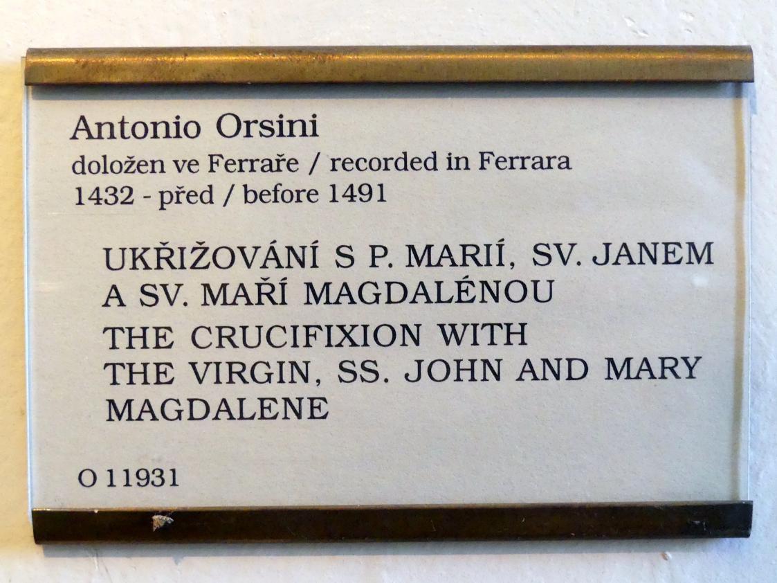 Antonio Orsini: Gekreuzigter Christus mit der Jungfrau Maria und den hll. Apostel Johannes und Maria Magdalena, Undatiert