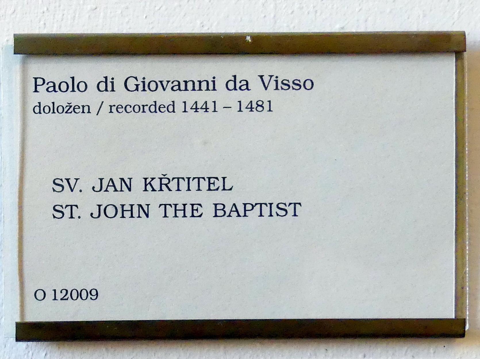 Paolo da Visso (Paolo di Giovanni da Visso): Johannes der Täufer, Undatiert, Bild 3/3
