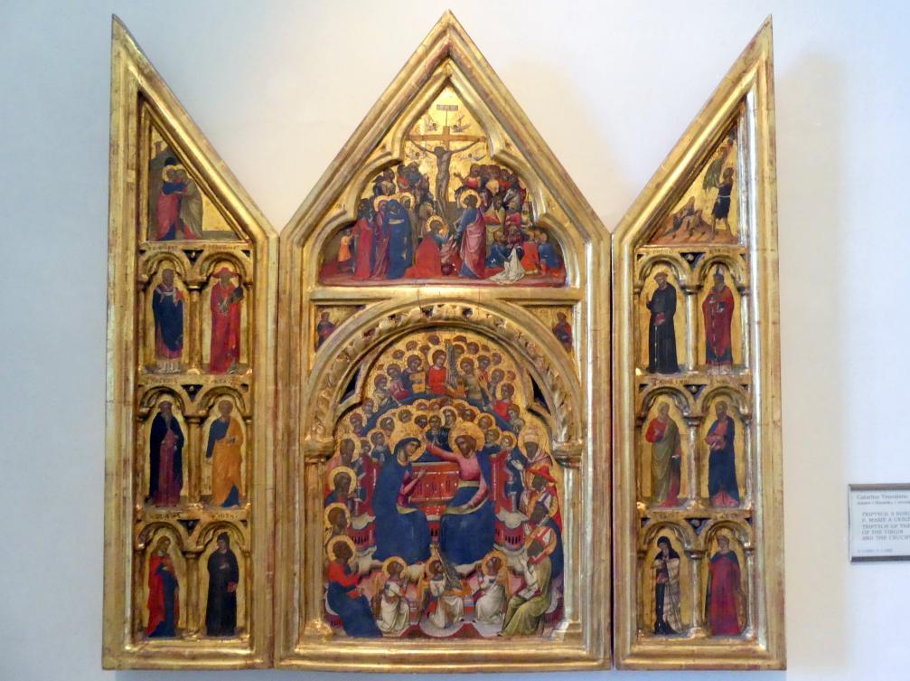 Catarino Veneziano: Triptychon mit der Marienkrönung und der Kreuzigung, Undatiert