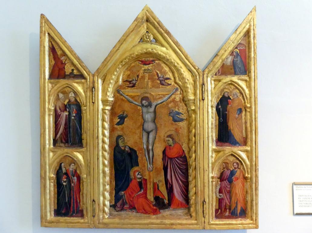 Martino da Verona: Triptychon mit Maria, Apostel Johannes und Maria Magdalena, Undatiert