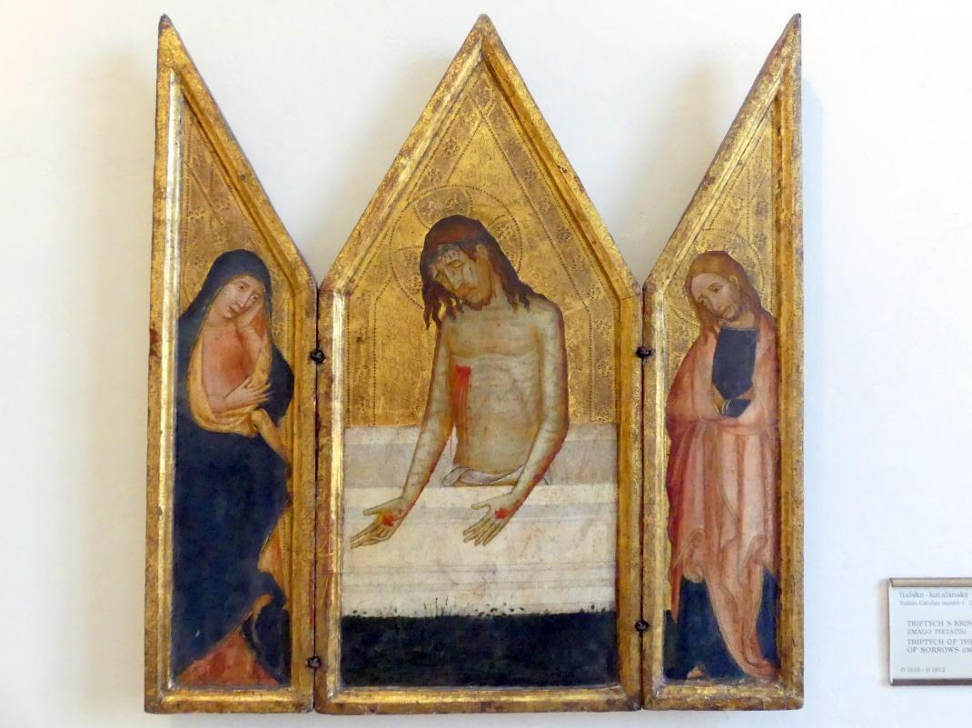 Triptychon mit Christus als Schmerzensmann, Um 1400