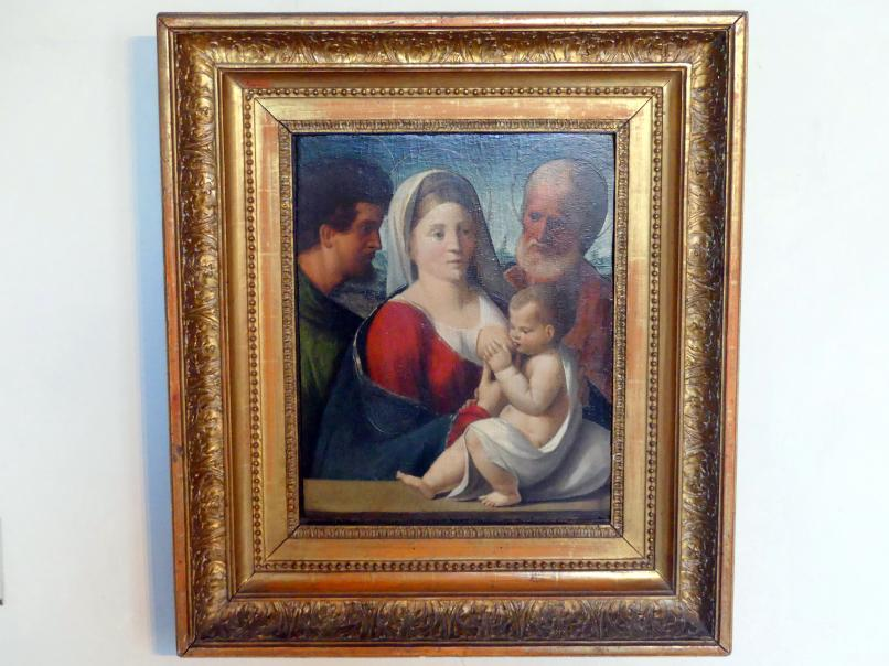 Giovanni Luteri (Dosso Dossi): Maria, das Kind stillend, Johannes der Täufer und der hl. Josef, Undatiert