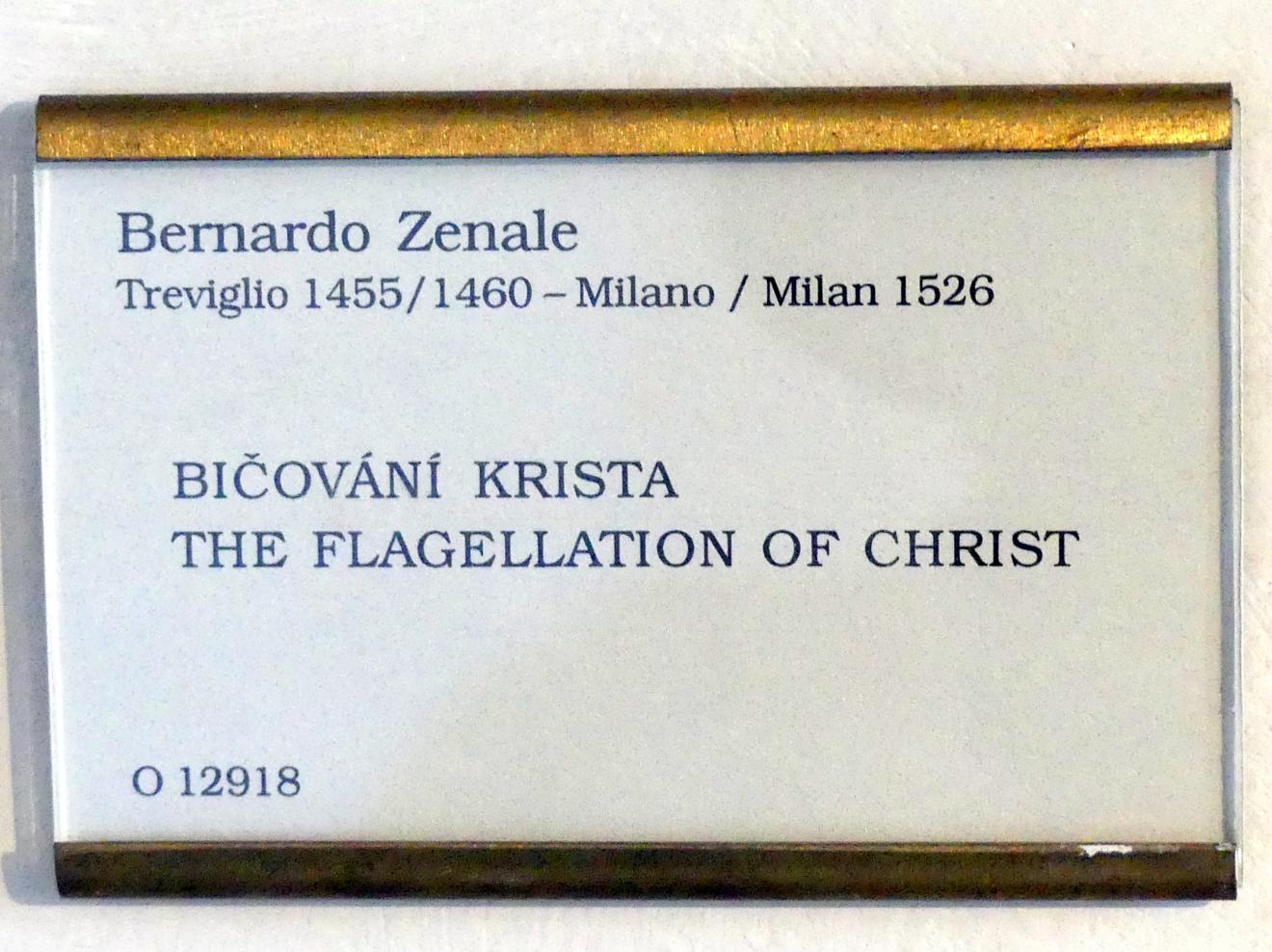 Bernardo Zenale: Geißelung Christi, Undatiert
