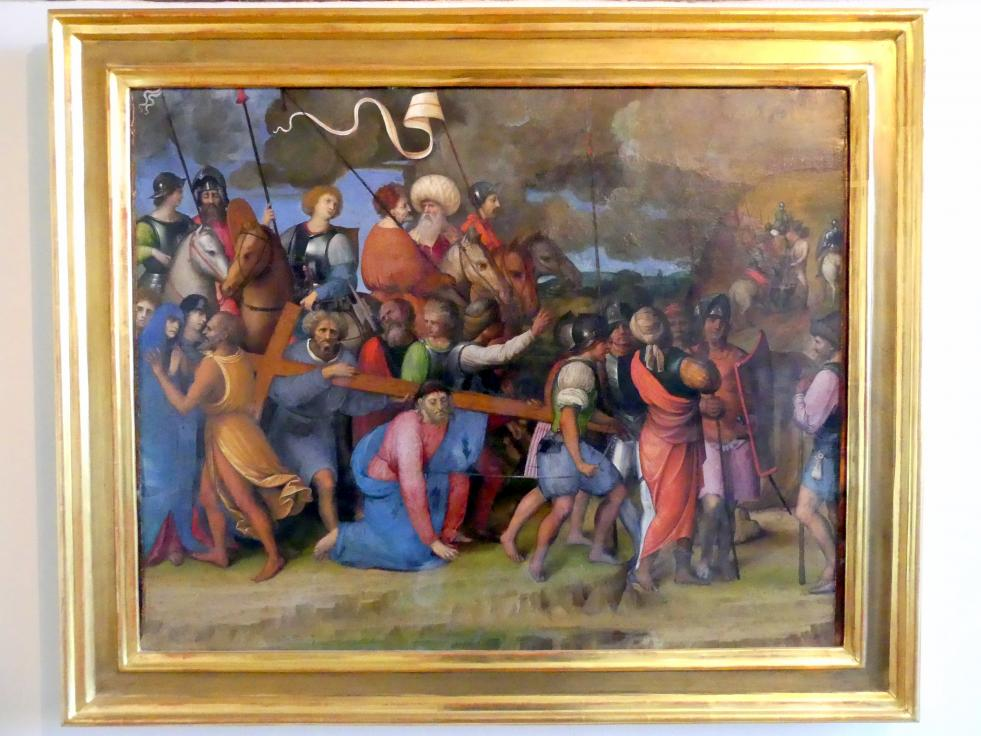 Giovanni Agostino da Lodi: Simon von Zyrene hilft Jesus das Kreuz tragen, Undatiert