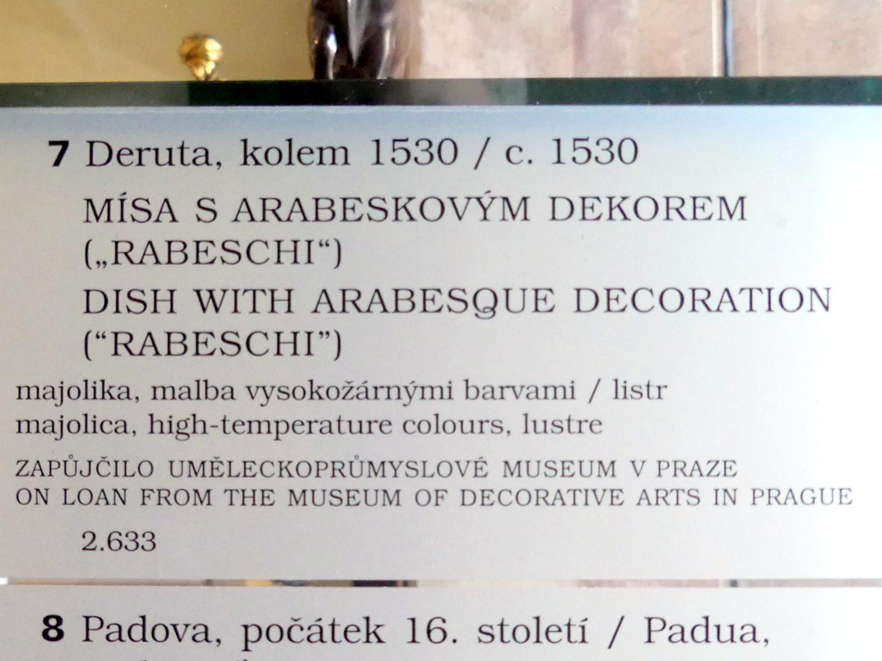 Schale mit Arabeske-Dekor (Rabeschi), um 1530, Bild 2/2