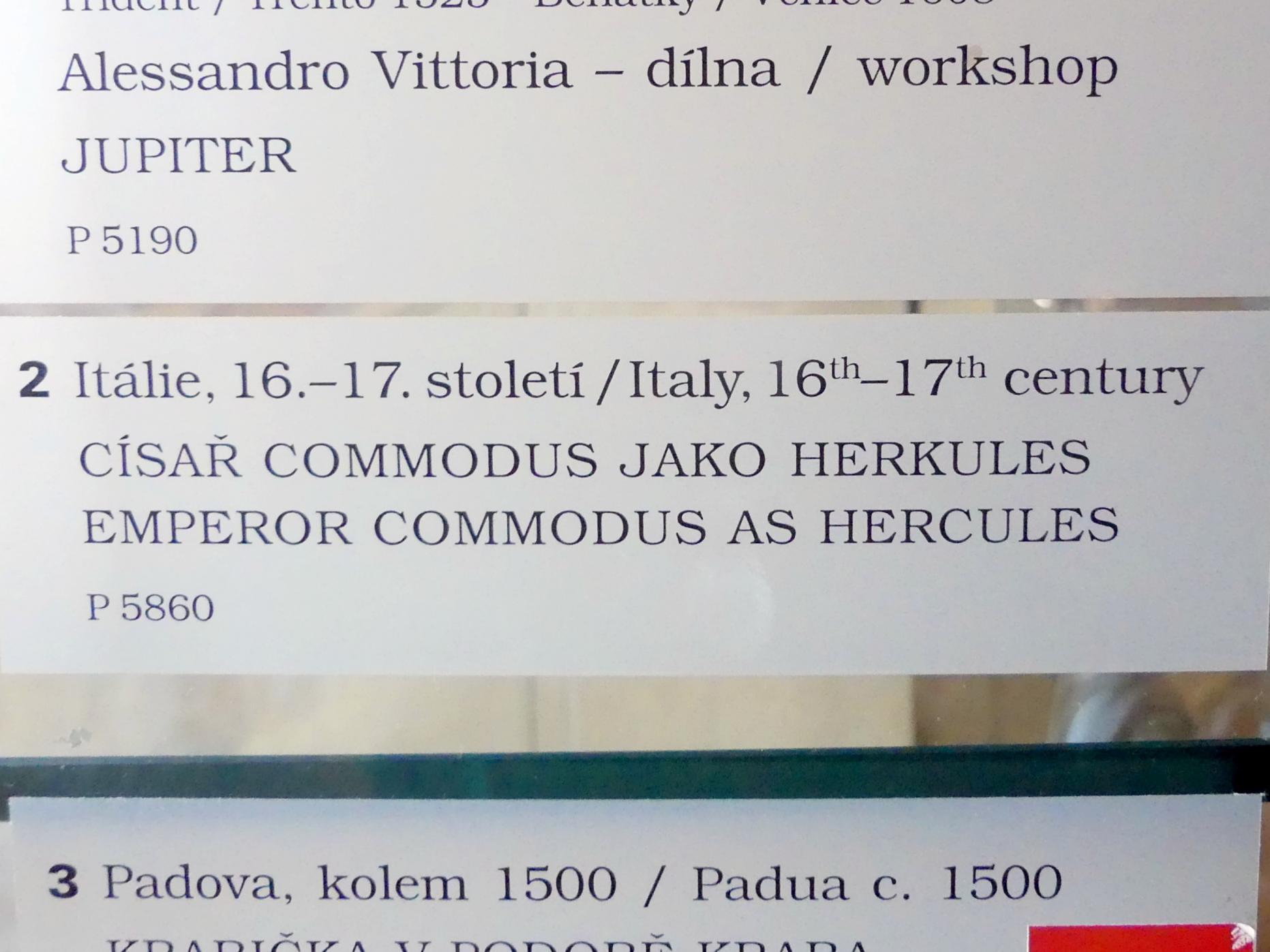 Kaiser Commodus (161-192) als Herkules, um 1500 - 1700, Bild 2/2