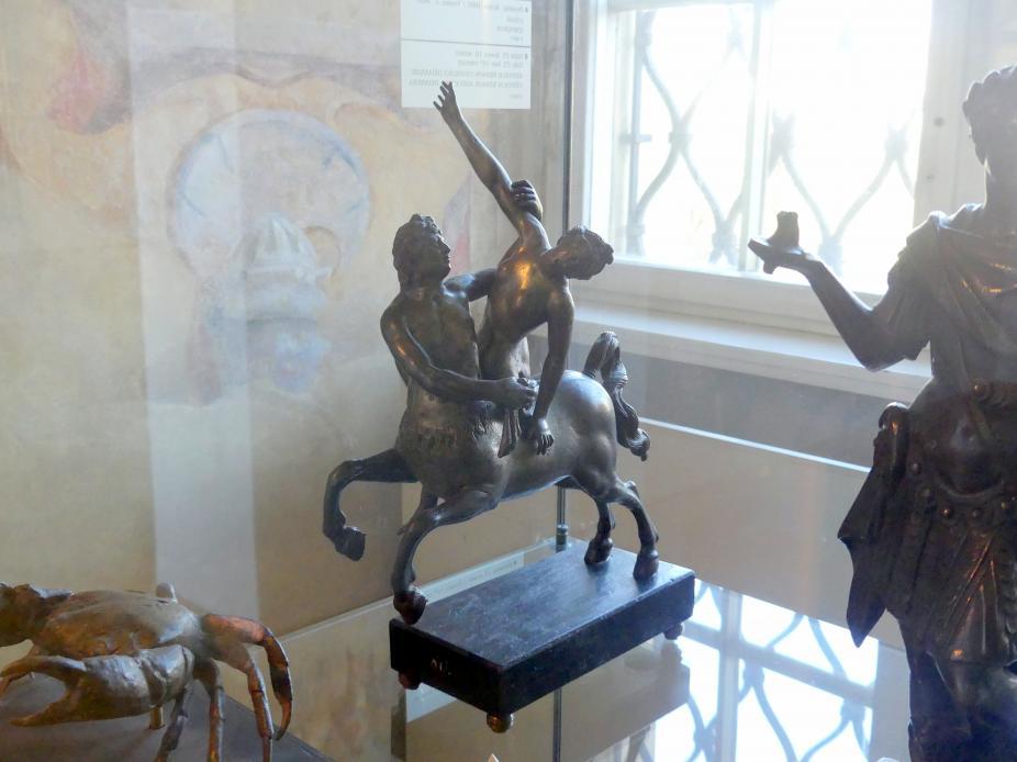 Kentaur Nessos entführt Deïaneira, Ende 16. Jhd.