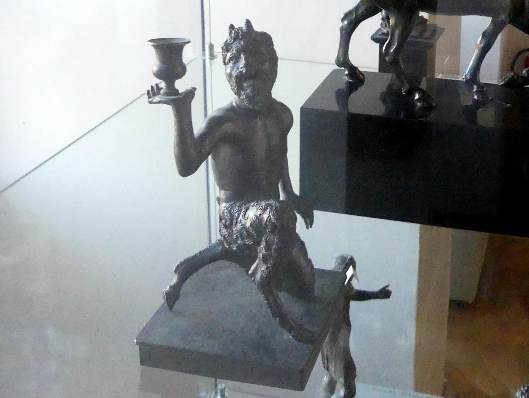 Severo Calzetta da Ravenna (Werkstatt): Kniender Satyr mit einem Kerzenhalter, Undatiert