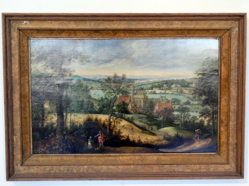 Lucas Gassel: Landschaft mit Christus und der kanaanäischen Frau, 1550