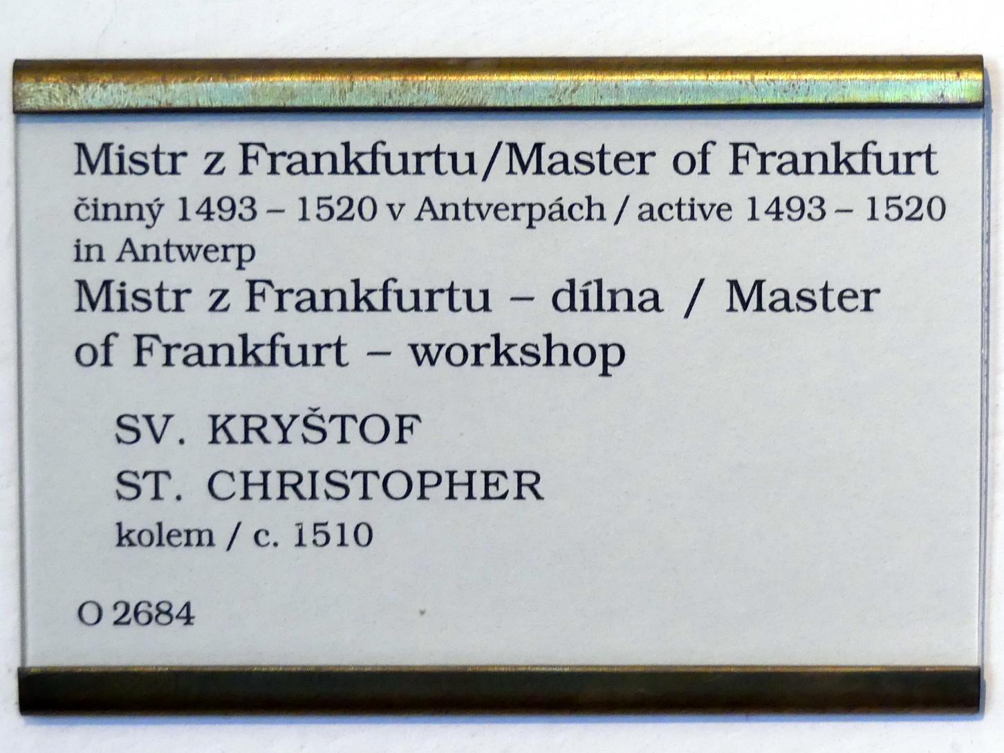 Meister von Frankfurt: Hl. Christophorus, Um 1510