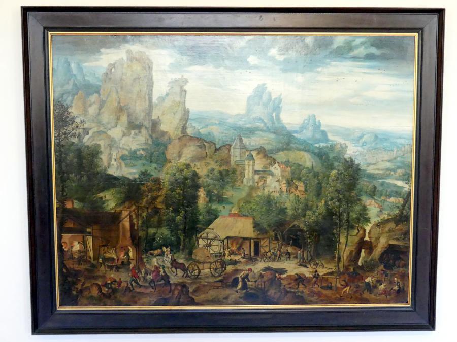 Herri met de Bles: Landschaft mit Gießerei, Um 1535