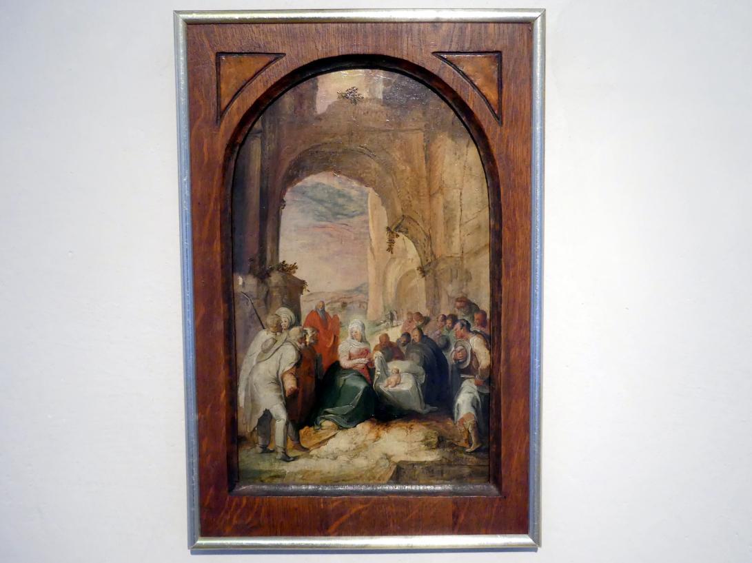 Karel van Mander: Die Anbetung der Hirten, 1596