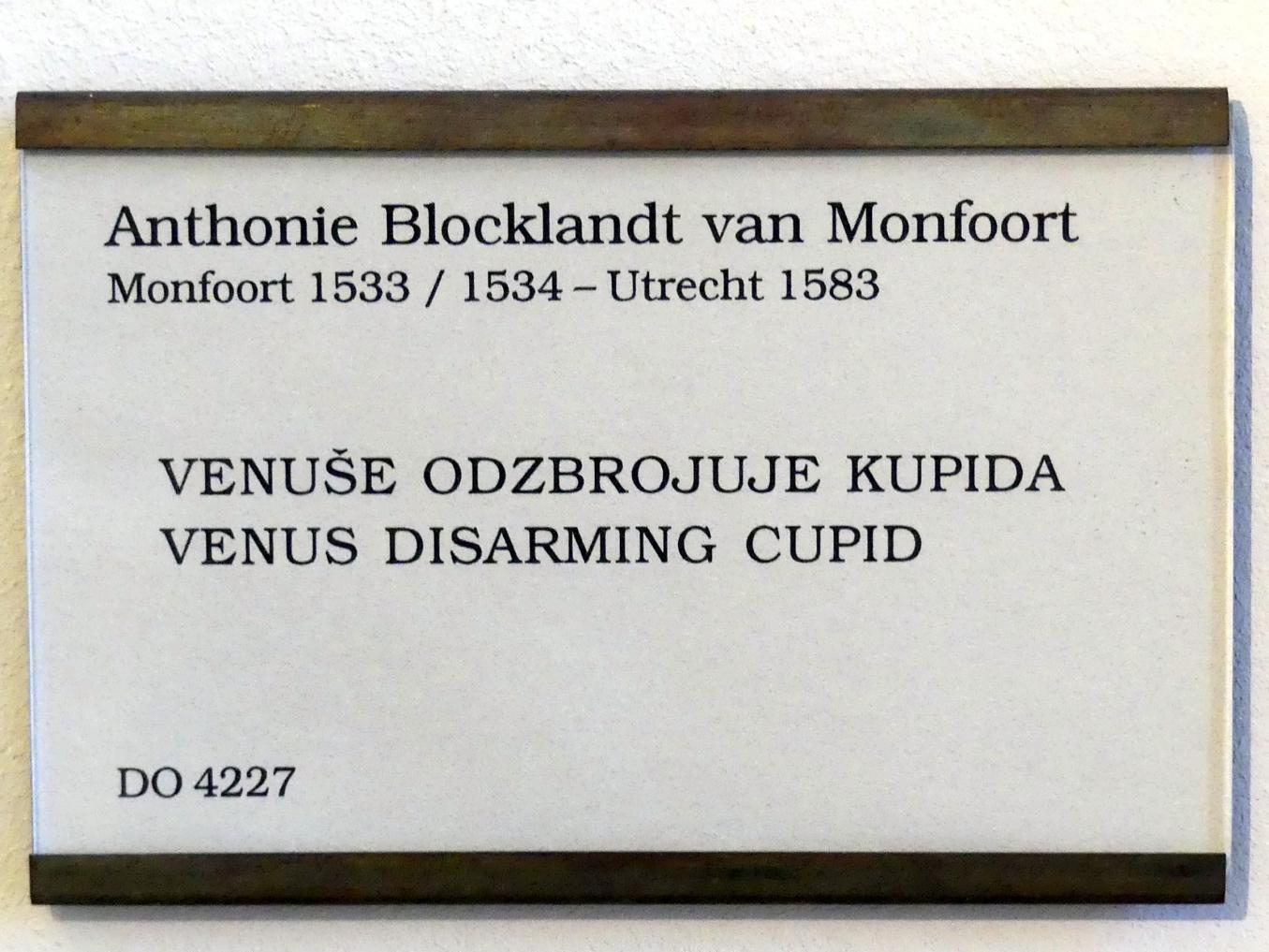 Anthonie Blocklandt van Montfoort (Antony van Blokland): Venus entwaffnet Amor, Undatiert