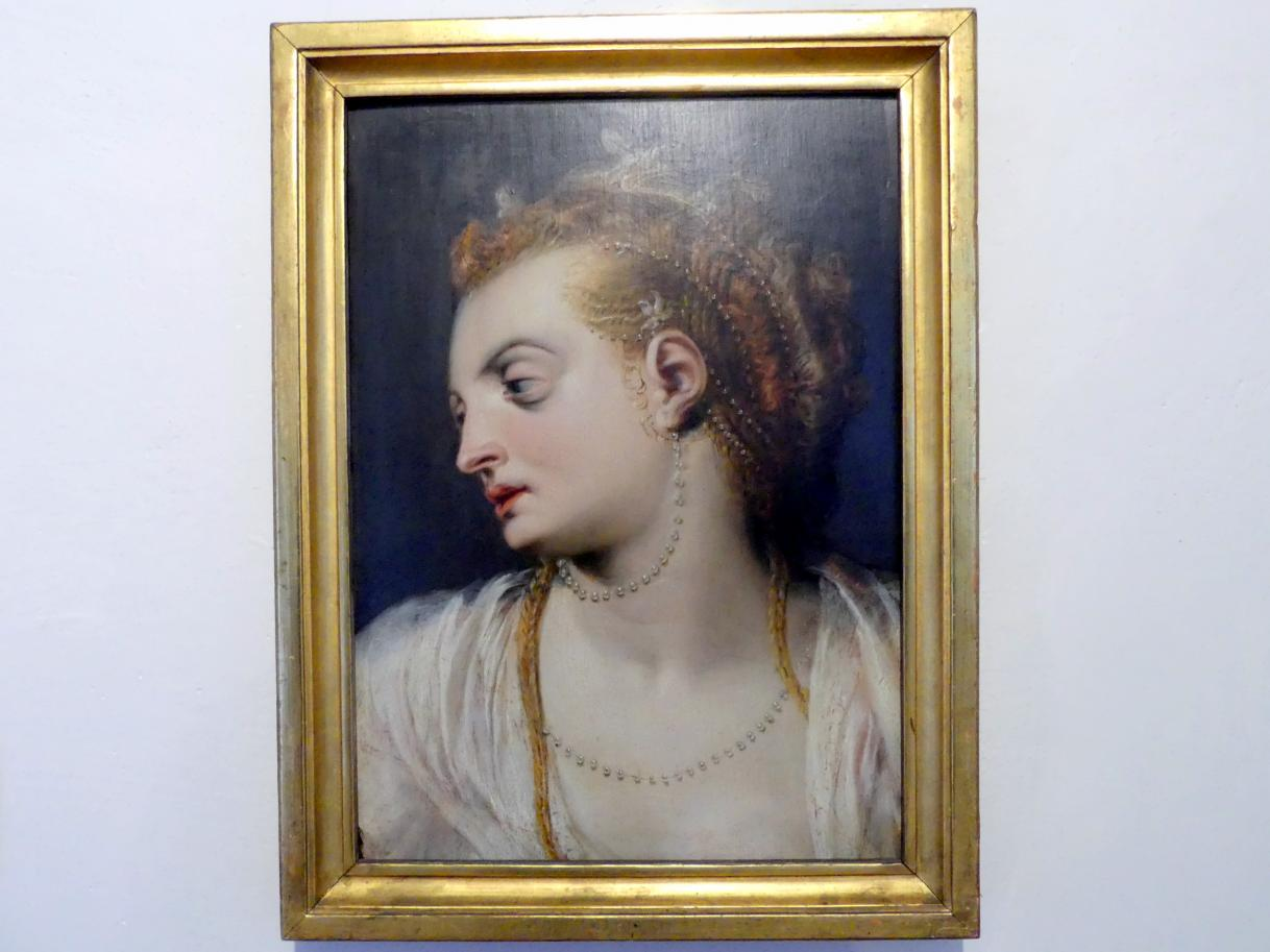 Frans Floris de Vriendt: Kopfstudie einer jungen Frau in weiß, 1550 - 1555