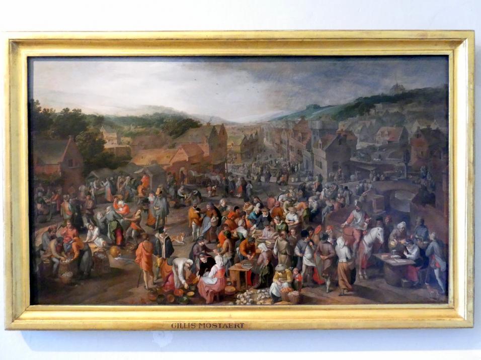 Gillis Mostaert: Markt in einer kleinen Stadt, 1579