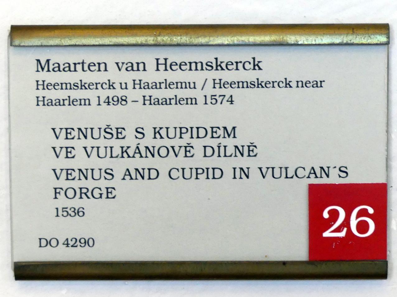 Maarten van Heemskerck: Venus und Amor in der Schmiede des Vulkan, 1536