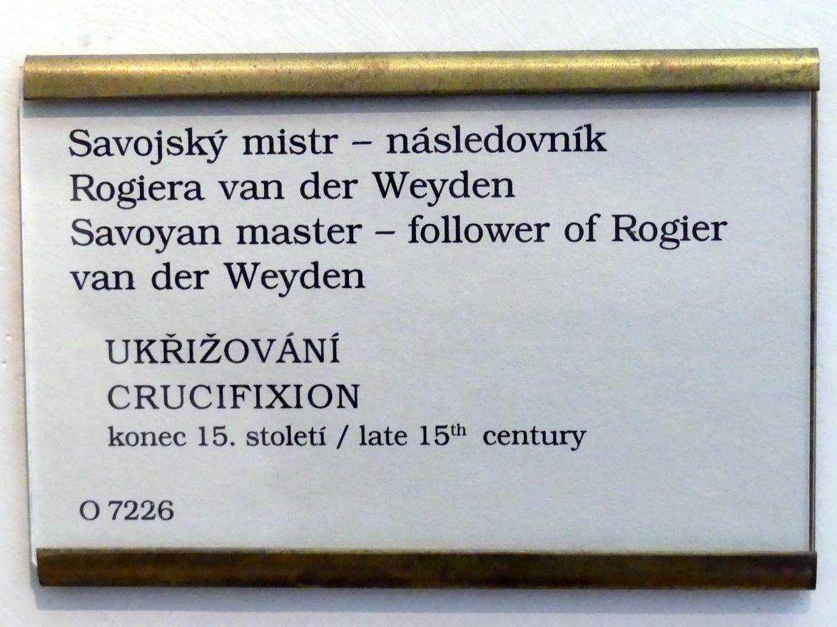 Rogier van der Weyden (Nachfolger): Kreuzigung Christi, Ende 15. Jhd., Bild 2/2