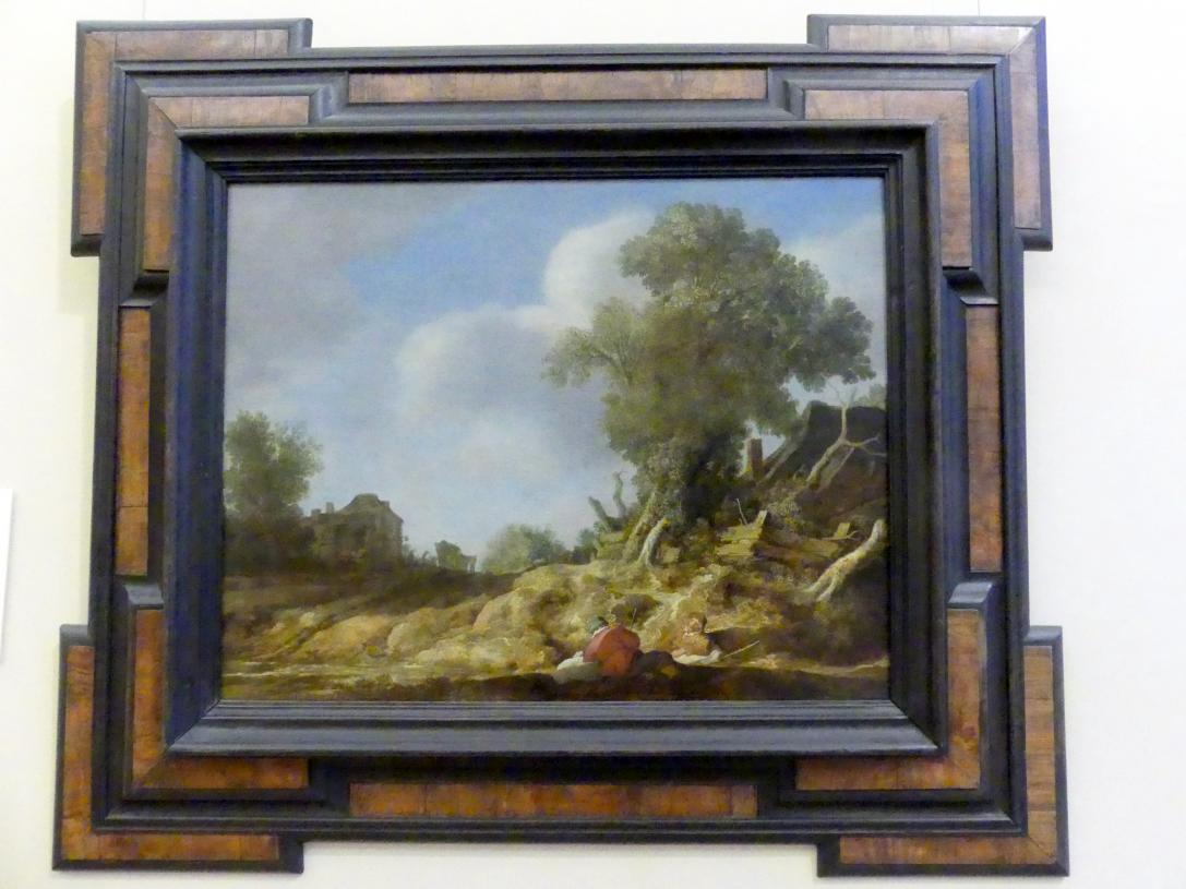 Pieter de Molijn: Landstraße mit rastenden Pilgern, 1628
