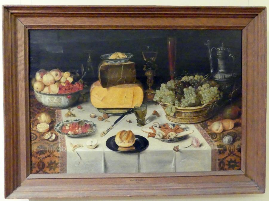 Nicolaes Gillis: Stillleben auf einem Tisch, 1614