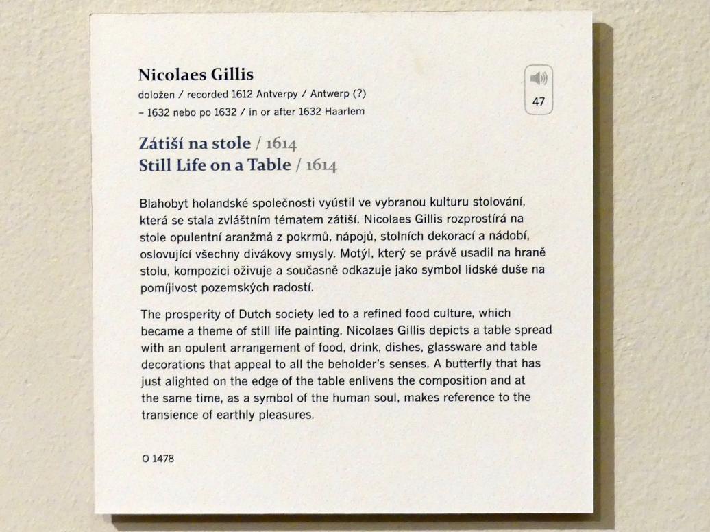 Nicolaes Gillis: Stillleben auf einem Tisch, 1614, Bild 2/2