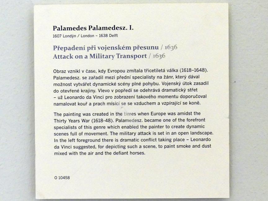 Palamedes Palamedesz (Stevaerts): Angriff auf einen Militärtransport, 1636, Bild 2/2