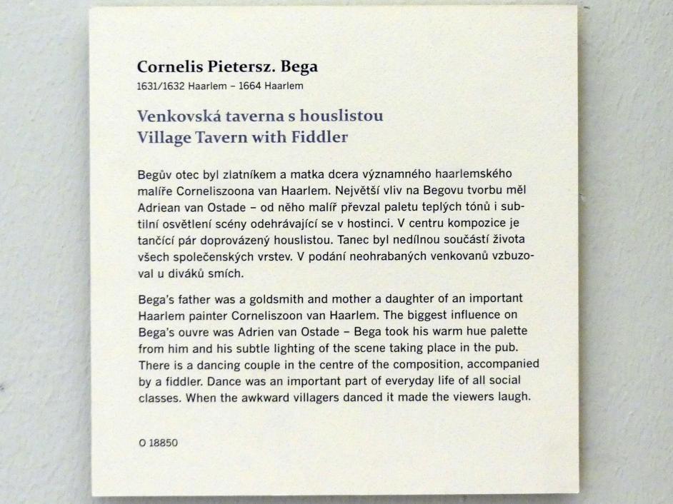 Cornelis Pietersz. Bega: Dorfschenke mit einem Geiger, Undatiert, Bild 2/2