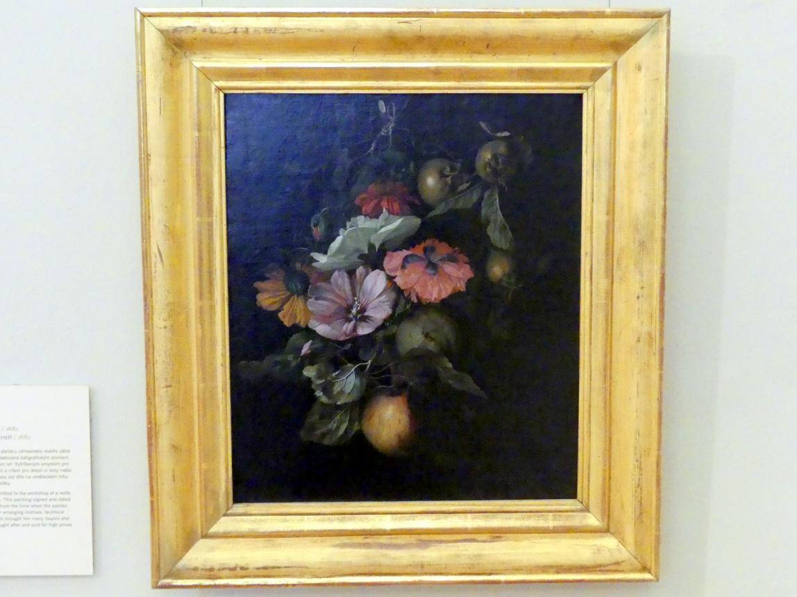 Rachel Ruysch: Stillleben mit Blumen und Früchten, 1682