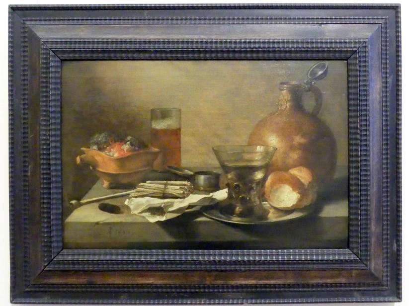 Pieter Claesz: Stillleben mit Krug und Kohlepfanne, 1646