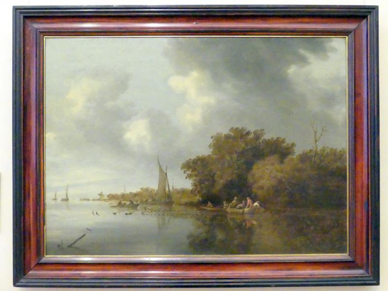 Salomon van Ruysdael: Fluss mit Fischer, 1642