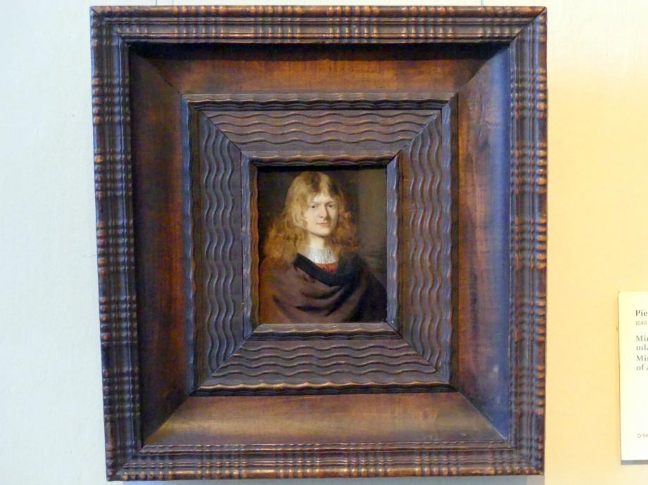 Pieter Cornelisz van Slingelandt: Miniaturportrait eines jungen Mannes, Undatiert
