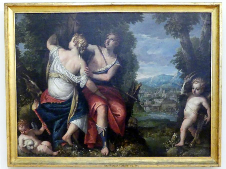 Carletto Caliari (Carletto): Angelica und Medoro, Undatiert