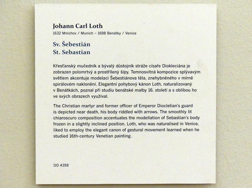 Johann Carl Loth (Carlotto): Hl. Sebastian, Undatiert, Bild 2/2
